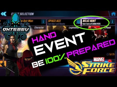 Relic Hunt Hand Event Guide - Marvel Strike Force - MSF