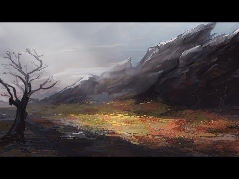Landscape Painting Practice Cold Swamp