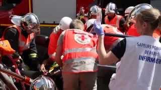 Désincarcération pour les journées portes ouvertes du centre de secours du Plessis-Clamart