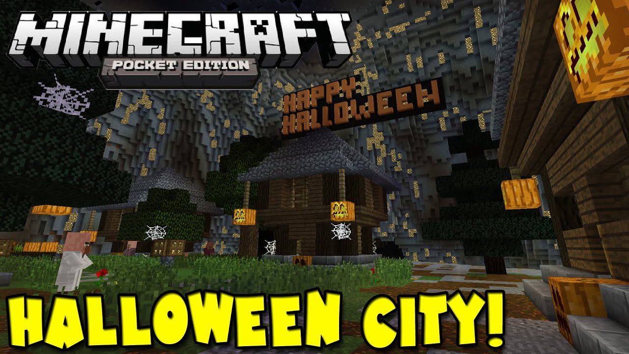 0.10.0] Halloween City! - Minecraft Pocket Edition - YouTube