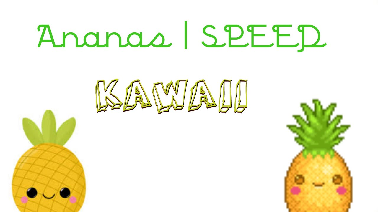 Ananas kawaii dessin speed youtube - Ananas dessin ...