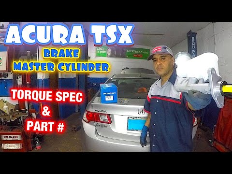 How to replace brake master cylinde on Acura tsx 2010
