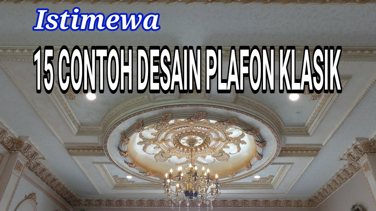 Model Plafon Gypsum Klasik Homkonsep