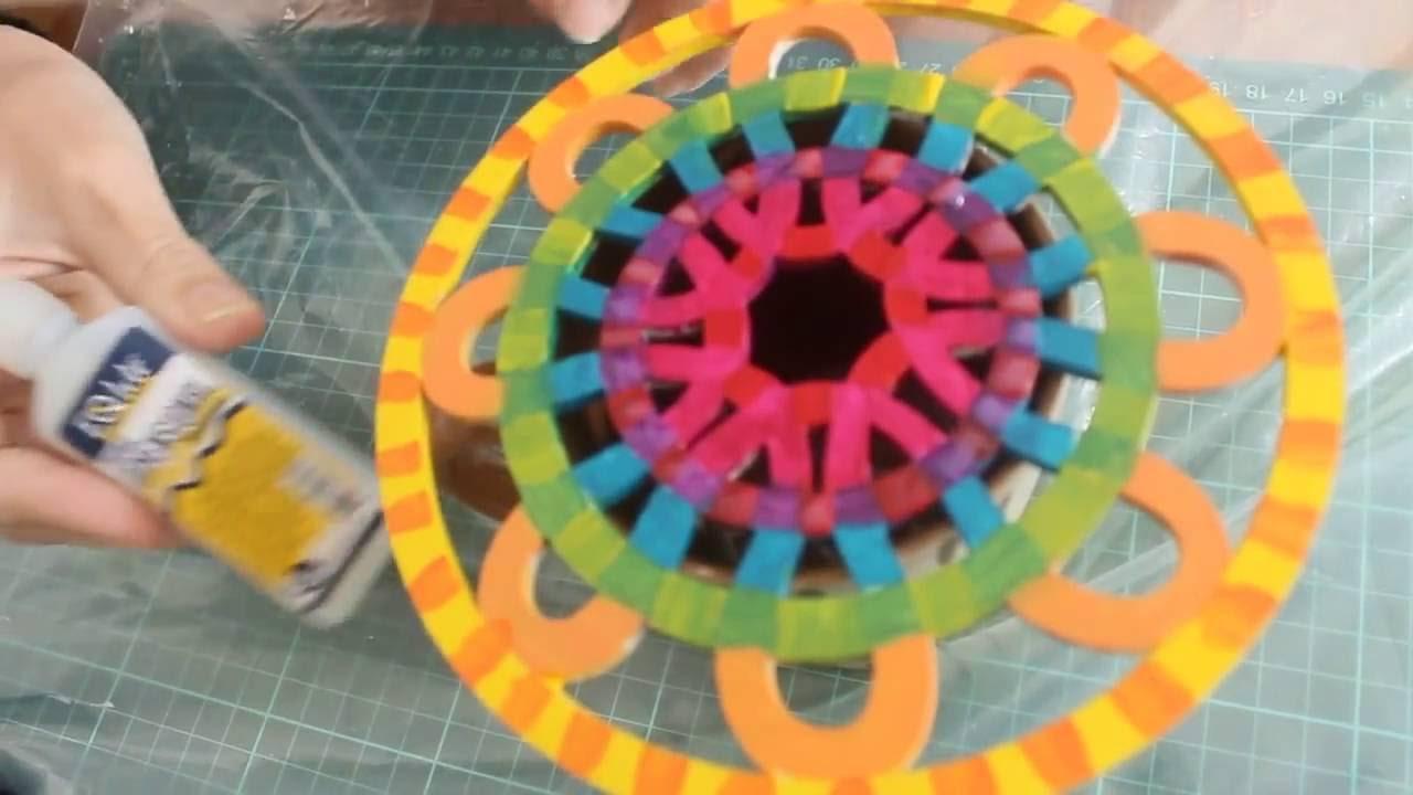 Como Decorar Un Mandala De Madera Con Pinturas Acrilicas Y - Pinturas-de-mandalas