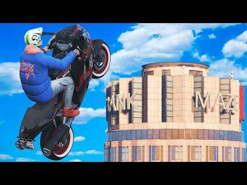 MOTORLA BİNALARIN ÜSTÜNE ÇIKMAK (GTA 5)