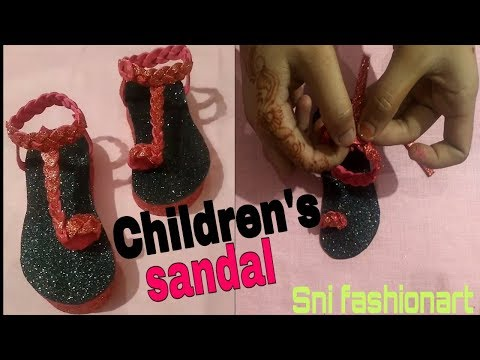 How to Make Beautiful Baby Slippers from Glitter Paper!! By sni fashionart
