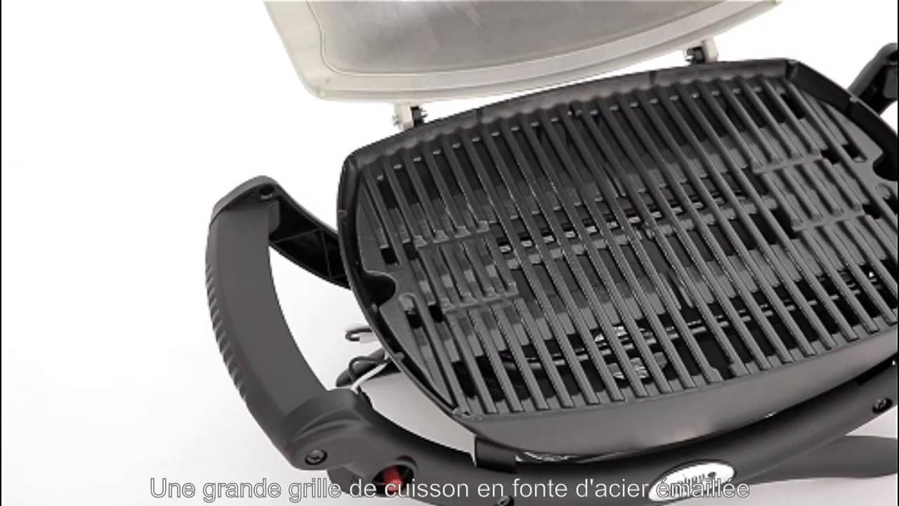 barbecue gaz weber q 1000 titanium youtube. Black Bedroom Furniture Sets. Home Design Ideas