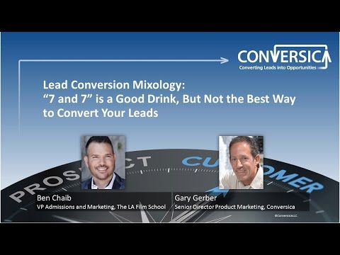 """Lead Conversion Mixology: """"7&7"""" is a Good Drink, But Not the Best Way to Convert Your Leads"""