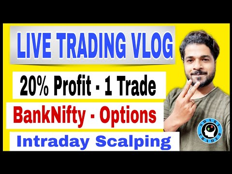 LIVE TRADING -20% profit – Bank Nifty Options – Intraday Scalping on side ways Market