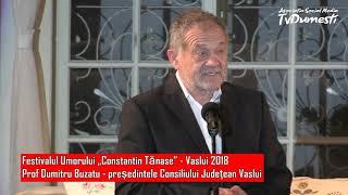 Mesajul plin de umor al prof. Dumitru Buzatu  la Festivalul Umorului - Vaslui 2018