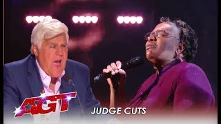 Callie Day: Amazing Singer Takes Jay Leno To CHURCH!   America's Got Talent 2019