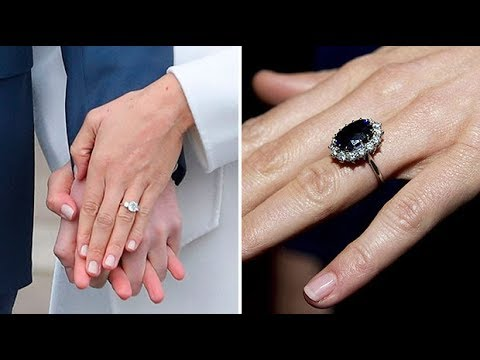 how does meghan markles engagement ring compare with kate