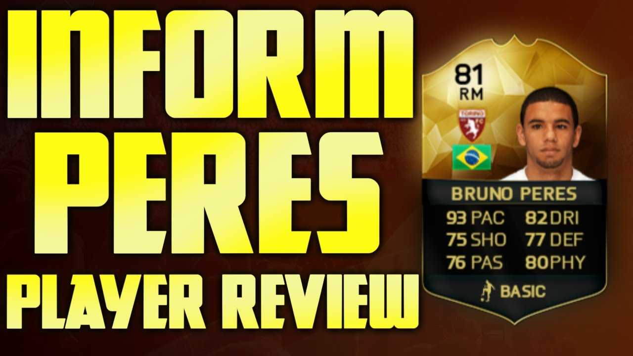 FIFA 16 INFORM BRUNO PERES PLAYER REVIEW !! - YouTube