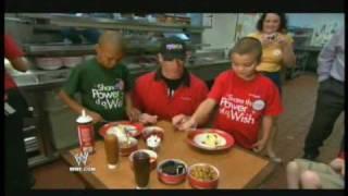 John Cena & T.g.i. Friday's Serve Memorable Meal For 3 Wish Kids