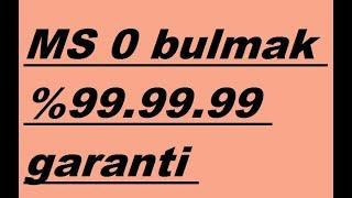 İDDAA'DA MS 0 ORAN ŞİKESİ (KANITLI) %99.99.99