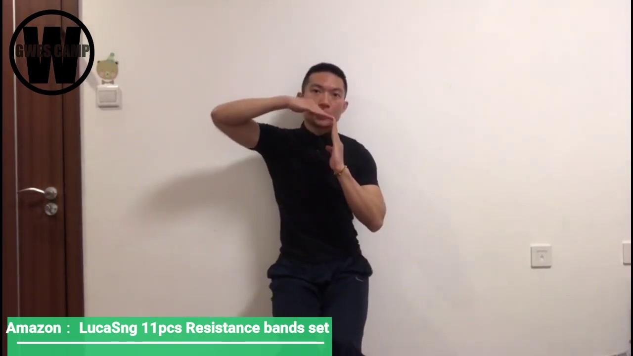 Download LucaSng 11Pcs Resistance Bands Tutorial (Squat Workouts)