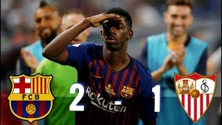 Barcelona vs Sevilla, Super Cup 2018 [2-1] - MATCH REVIEW