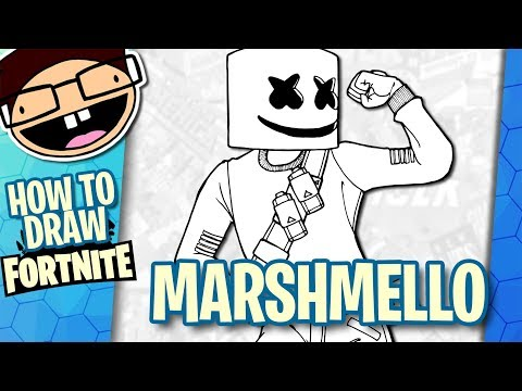 How To Draw MARSHMELLO (Fortnite: Battle Royale) | Narrated Easy Step-by-Step Tutorial