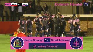 Harrow Borough 0-1 Dulwich Hamlet, Bostik League Premier Division, 26/09/17 | Match Highlights