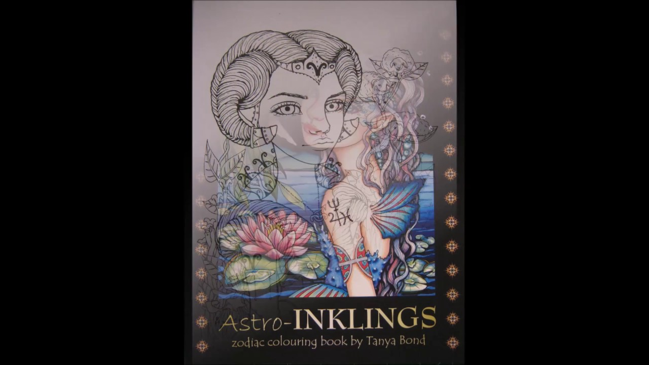 The coloring book poster - Flip Through Astro Inklings By Tanya Bond Coloring Book