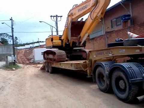 Encarretando Escavadeira Hyundai 210