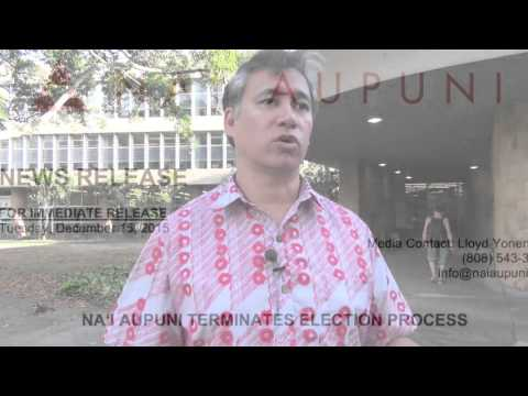 A Hawaiian Constitution, and the Na'i Aupuni Legal Challenges