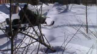 видео Двигатель для снегохода Буран 680 куб/см двухцилиндровый 4-х тактный мощностью 32 л.с. с электростартом - На Буран