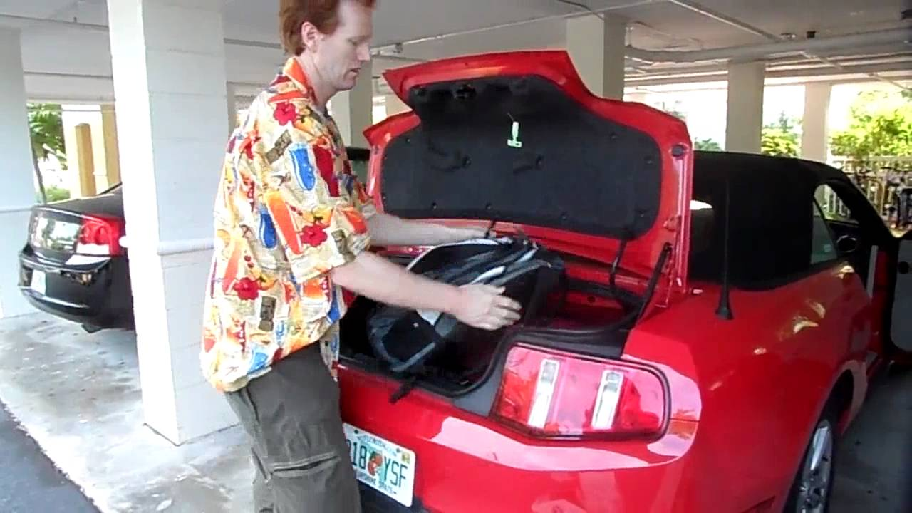 How much fits in the trunk of a ford mustang convertible youtube