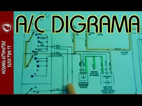 Aire acondicionado automotriz  (diagrama electrico BASICO)