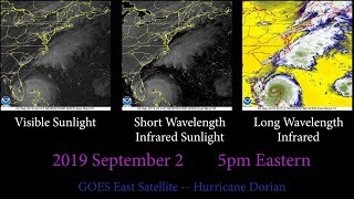 Hurricane Dorian Time-lapse: Six Days in Two Minutes