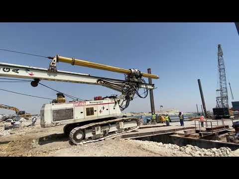 Barge #Piling Rig machine loading