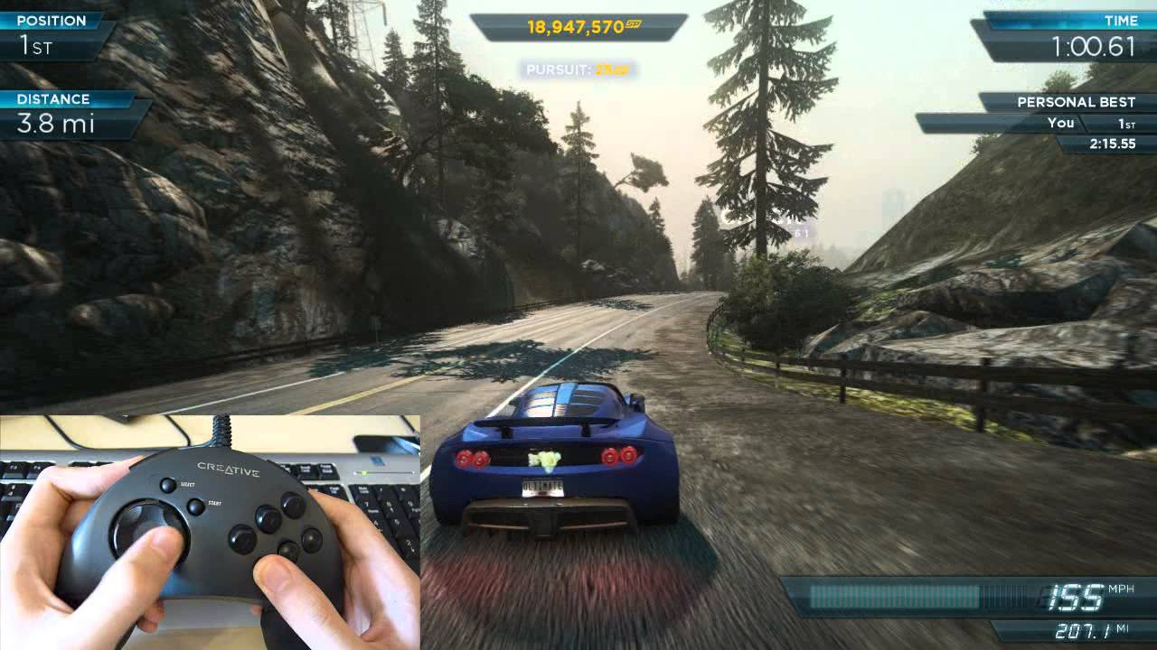 NFS Most Wanted 2012: How I play with my gamepad ...