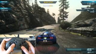 NFS Most Wanted 2012: How I play with my gamepad - Hennessey Venom GT Spyder vs. Most Wanted Venom