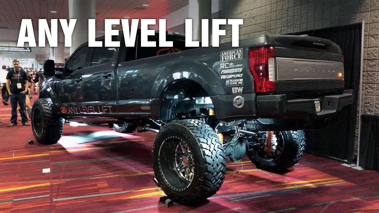 2017 Ford Super Duty >> 2017 SEMA Show: Any Level Lift on Ford Super Duty - YouTube