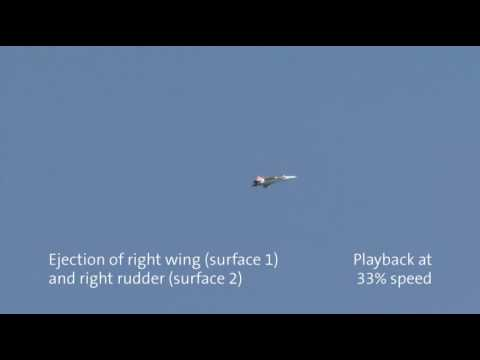 Damage Tolerance Flight Test: 60% wing loss and stabilizer losses