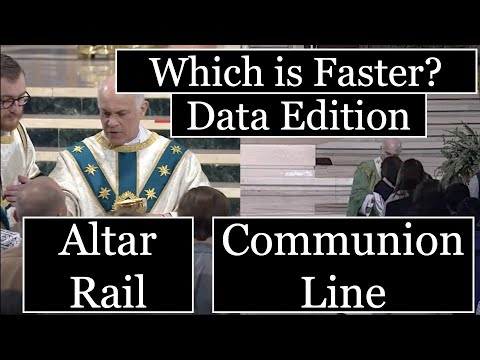 Altar Rail or Communion Line - Which is Faster? (Data Edition)