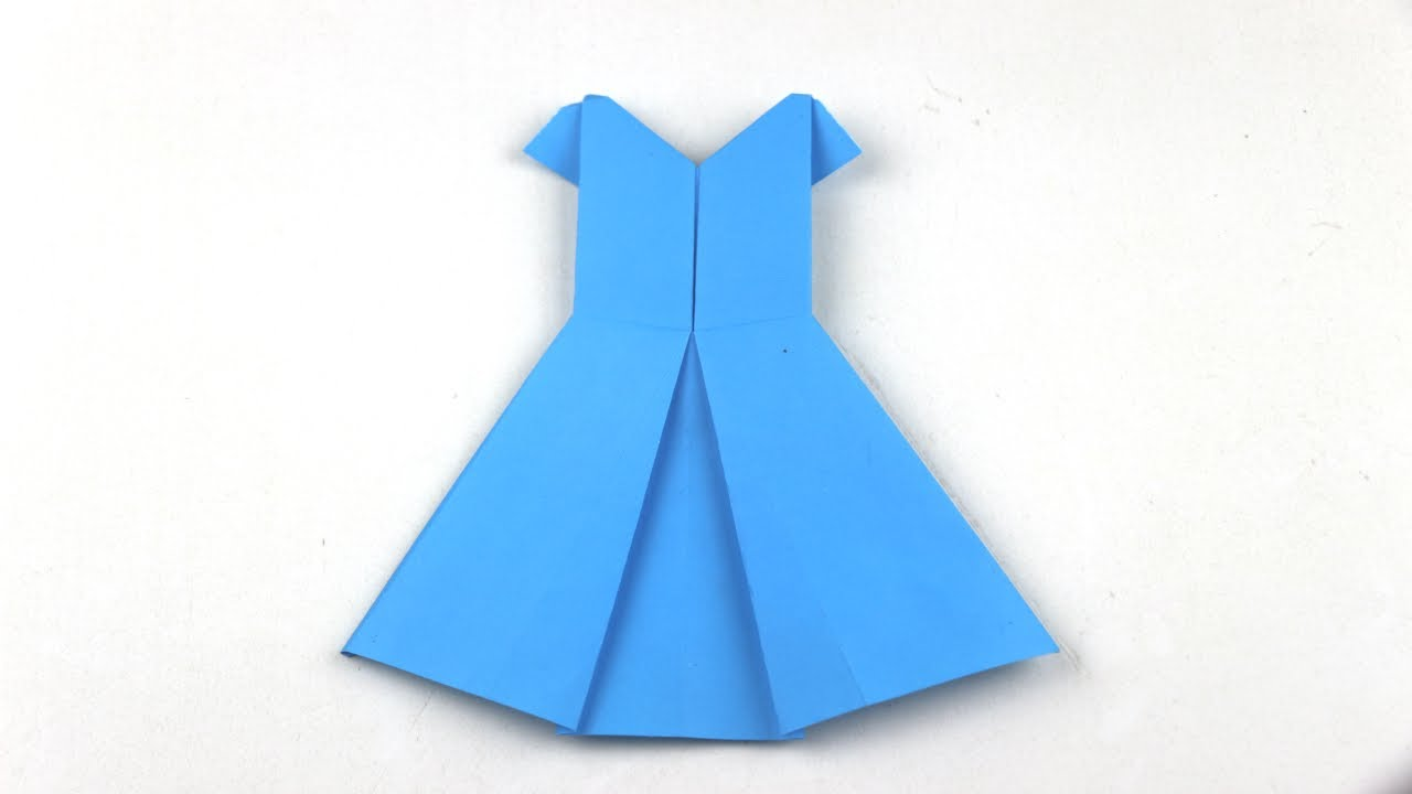 How to make an origami dress  craft tutorial  YouTube