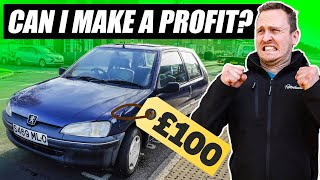 homepage tile video photo for Can I Turn A £100 Car Into BIG Profit?