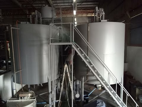 Industrial Stainless Steel Tank Systems Anti Corrosion Coating Malaysia