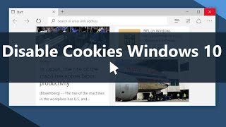 Windows 10 - How to Disable Cookies