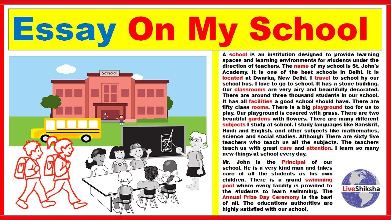 essay about my ideal school The school of my dreams  sign up to view the whole essay and download the pdf for anytime access on your computer, tablet or smartphone.