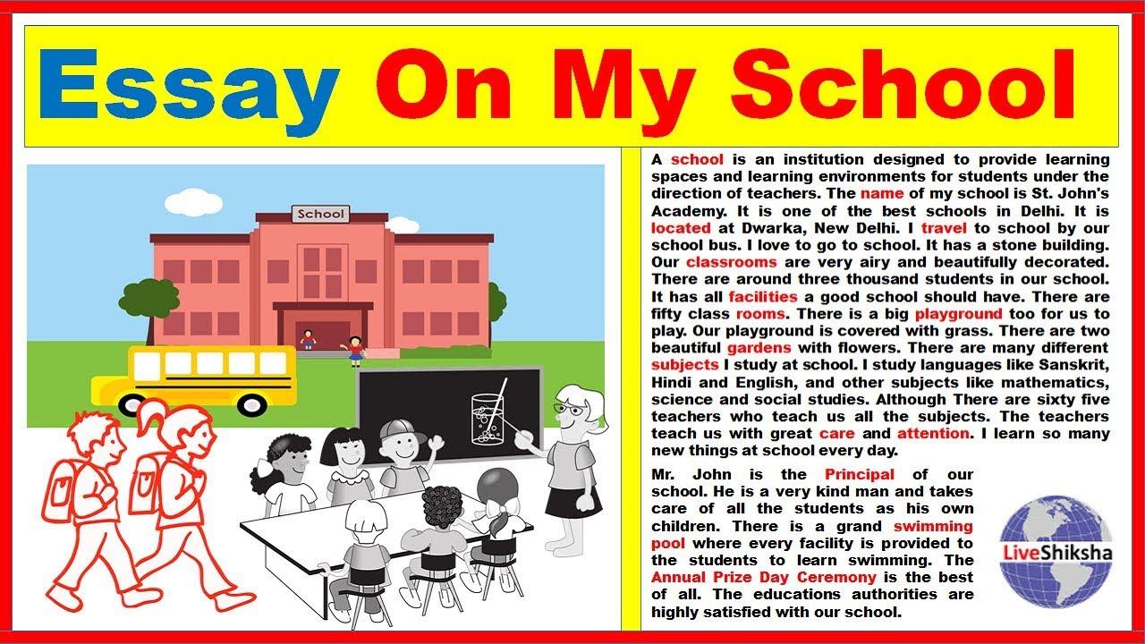 Essay On My School In Engilsh Best And Easy My School