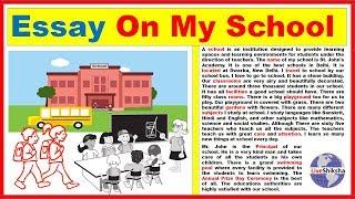Essay On My School In Engilsh || Best and easy My School essay in 350 words thumbnail