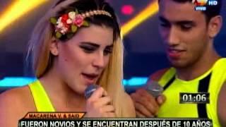 Macarena Vélez y Said Palao se dieron intenso beso