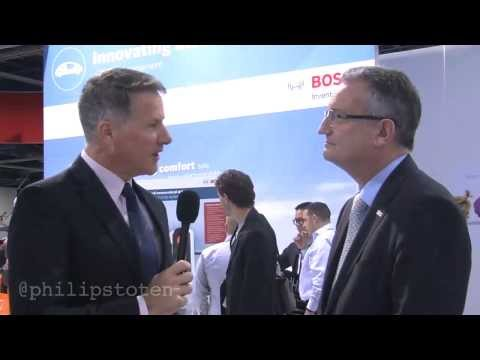 Robert Bosch GmbH Board Member, Werner Struth at CES 2014 in Las Vegas