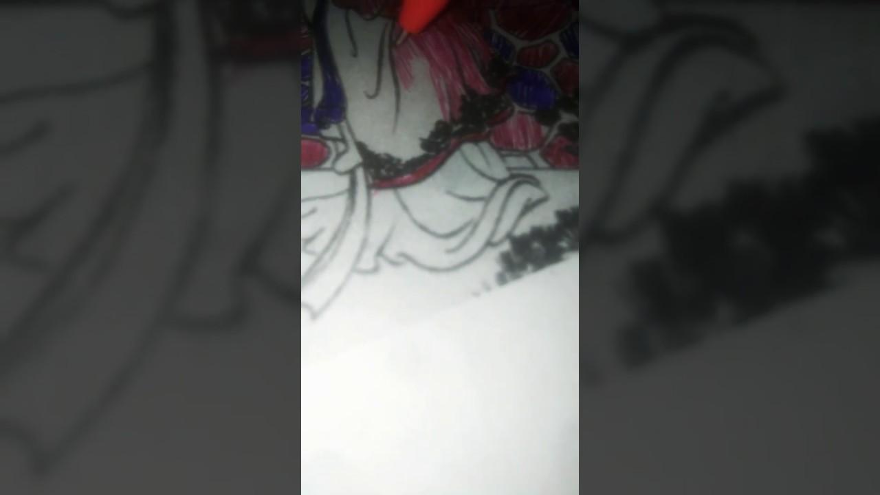 Tô màu tranh Thúy Kiều SGK Lớp 9 bằng 2 cây viết Phần cuối