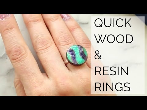 Quick & Easy Wood Resin Rings | The Carpenter's Daughter