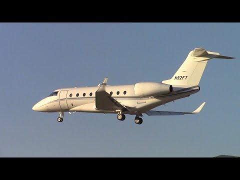 Gulfstream G280 [N92FT] Landing and Taxi at Santa Barbara Airport