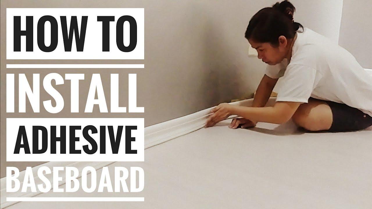 To Install Self Adhesive Baseboard
