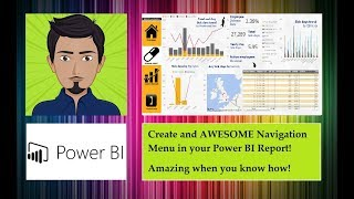 Power BI - Create an AWESOME Navigation Menu - with BOOKMARKS -  Easy to use! Easier to set up!